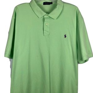 Polo Ralph Lauren Green Polo Shirt Mens 4XLT Tall